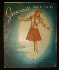 1946 Children's  Juvenile Hand Knits Instruction Pattern Book by Rembrandt Yarns