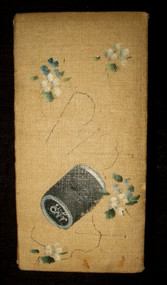 Antique 1900s Edwardian  Hand Painted Needle and Pin Case