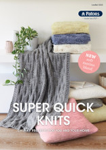 Super Quick Knits - Patons Knitting  Pattern (0035) cover
