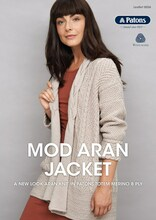 Mod Aran Jacket - Patons Knitting  Pattern (0036) cover
