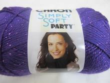 Caron Simply Soft Party Yarn - Grape Sparkle