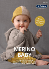 Merino Baby - Patons Knitting  Pattern (1106) cover