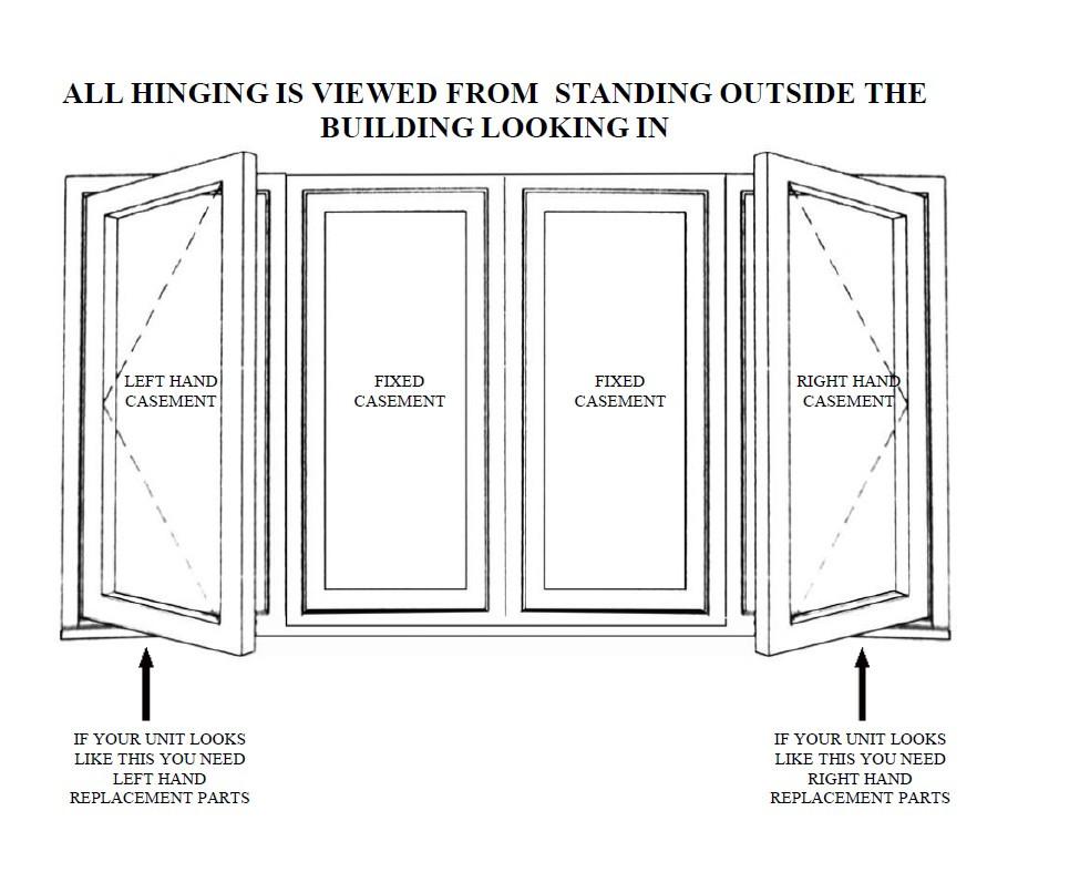 Casement Window Diagram : Dual arm casement operator or newer