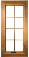 Full surround rectangular wood grilles for Semco casement windows