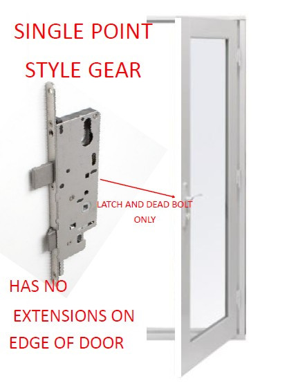 Hoppe universal single point gear with screws( works for both left or right swing doors)  sc 1 st  GoWindowGo Window Replacement Parts Homepage & Hoppe universal single point gear with screws( works for both left ...