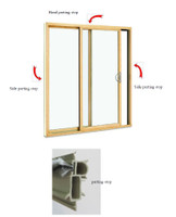 3-PIECE W/STRIP KIT INCLUDES QTY (3) 125650 PARTING STOPS FOR DOORS UP TO 8FT WIDE AND 8FT HIGH. MAY 1999-JULY 2011