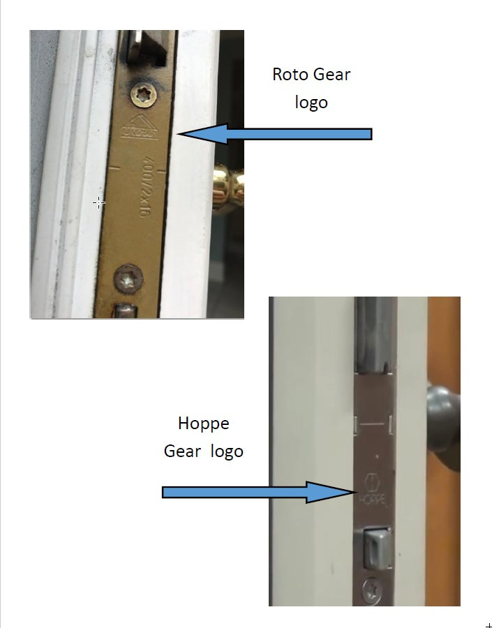 Gear hoppe ACTIVE Replacement for the old roto gear multi point gear 199735 for a Lincoln swing door 1996 to 2002. fits both in swing and out swing doors