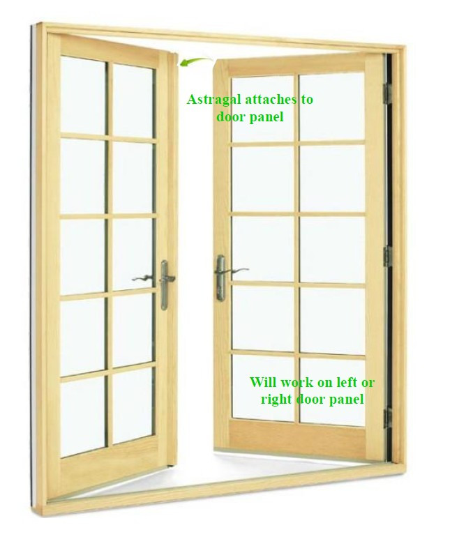 Semco astragal and astragal weather strip for french inswing door with standard sill  sc 1 st  GoWindowGo Window Replacement Parts Homepage & 6-8 astragal for prime wood french 3-point swing door 2209454
