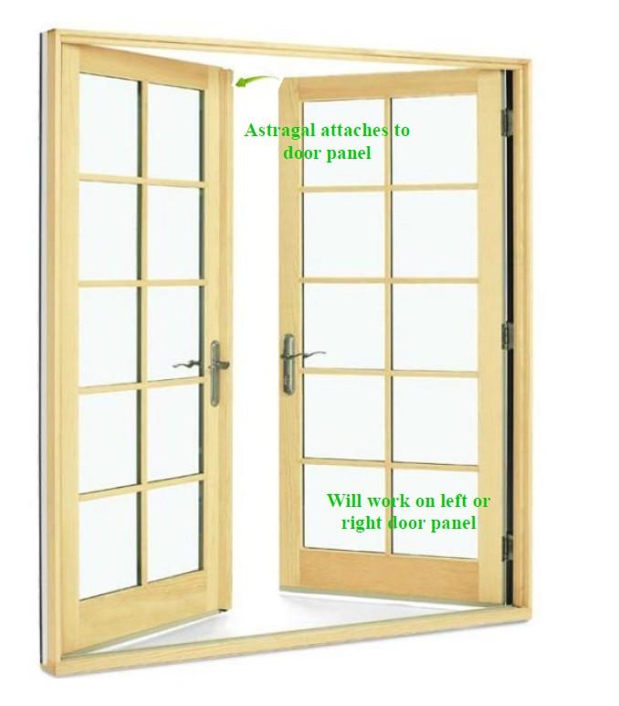 Astragal door for Standard french doors