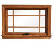 Full surround Prairie style wood grilles for Semco awning windows