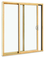 Park-vue custom clad extruded door Frame size  69 5/8 wide x 79 tall, low-e glass with screen included. 4 9/16 jamb, bronze handle included.  in Standard clad color and. includes mull connector for head of door