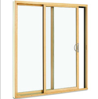 Custom sized park view sliding patio door : KD (knocked down) tan exterior  color, low e glass, standard bronze handle , 6 1/4 jamb , screen included. unit demension = 69  wide x 81 1/2 tall, from outside left panel operates