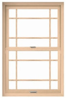 """Windsor set (comes with top and bottom) Pinnacle Double Hung """"PRAIRIE STYLE"""" perimeter style  wood grilles"""