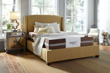 Mlily Fusion Hybrid Latex Mattress on a platform bed