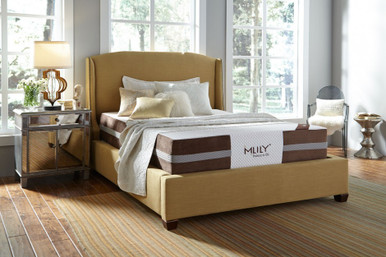 Mlily Fusion Hybrid Latex Mattress on a platform bed