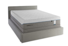Tempur-Cloud Supreme Mattress and Boxspring on upholstered platform bed