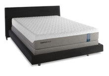 Tempur-Cloud prima Mattress and boxspring on wood platform bed