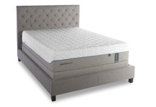 Tempur-pedic Cloud Supreme Mattress on an upholstered platform bed
