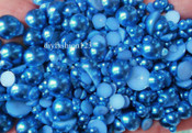 800 pieces Dark Blue Mixed Sizes Flatback Pearl Cabochons -- lovekittybling