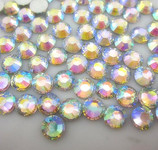 AB Clear --- 5mm 500 pcs --- Rhinestones Round Flat back 14-facet ( High Quality ) --- love kitty bling
