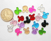 15 pcs Mixed colors dotted Flat Back Rhinestones (size: 12mm ) --- by lovekitty