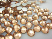 Champagne --- 6mm  50pcs --- Rhinestones Round Flat back 14-facet ( High Quality ) --- lovekitty