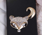1 piece  Rhinestone Fox Head Bling Bling Decoden Piece -- by lovekitty