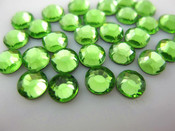 Light Green  --- 6mm  50pcs --- Rhinestones Round Flat back 14-facet ( High Quality ) --- lovekitty