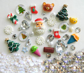 DIY 3D Christmas Bling Bling Kawaii Resin Cabochons Cell Phone Case Deco Kit / Set Z384 -- lovekitty