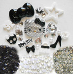 DIY 3D Blinged out Hello Kitty Kawaii Cabochons Deco Kit / Set 376 -- lovekitty