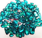 30 pcs Teal Cut Back Mixed Sizes Gems -- by lovekitty