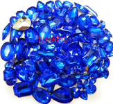 30 pcs Dark Blue Cut Back Mixed Sizes Gems -- by lovekitty