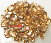 30 pcs Champagne Cut Back Mixed Sizes Gems -- by lovekitty
