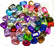 30 pcs Lot  -- Mixed Colors Medium Sizes Cut Back Gems -- by lovekitty
