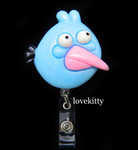 Blue Bird  -- Anglry Bird Retractable ID Badge Holder / Name Badges / ID Badge Reel ----  lovekitty