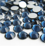 Ink Blue -- Glass Rhinestone -- 1440 pcs / Pack Flatback Round High Quality --- lovekitty