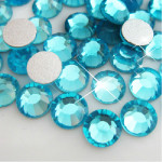 Lake Blue  -- Glass Rhinestone -- 1440 pcs / Pack Flatback Round High Quality --- lovekitty