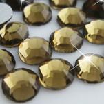 Dark Brown -- Glass Rhinestone -- 1440 pcs / Pack Flatback Round High Quality --- lovekitty