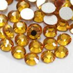 Gold -- Glass Rhinestone -- 1440 pcs / Pack Flatback Round High Quality --- lovekitty