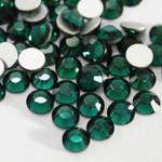 Dark Green -- Glass Rhinestone -- 1440 pcs / Pack Flatback Round High Quality --- lovekitty