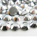 Silver -- Glass Rhinestone -- 1440 pcs / Pack Flatback Round High Quality --- lovekitty