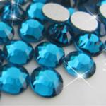 Teal -- Glass Rhinestone -- 1440 pcs / Pack Flatback Round High Quality --- lovekitty