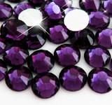 Dark Purple -- Glass Rhinestone -- 1440 pcs / Pack Flatback Round High Quality --- lovekitty