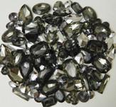 30 pcs Gray Cut Back Mixed Sizes Gems-- lovekittybling