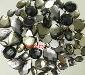 30 pcs Gray FlatBack Mixed Sizes Gems-- lovekittybling