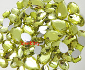 30 pcs Light Yellow FlatBack Mixed Sizes Gems-- lovekittybling
