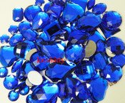 30 pcs Dark Blue FlatBack Mixed Sizes Gems-- lovekittybling