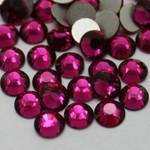 Purple Fuchsia -- Glass Rhinestone -- 1440 pcs / Pack Flatback Round High Quality --- lovekitty