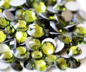 Olivine --- SS12 144 pcs ---  Crystal Flatback Rhinestone #2028  ---  lovekitty