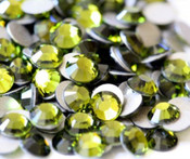 Olivine  --- SS20 144 pcs ---  Crystal Flatback Rhinestone #2028  ---  lovekitty